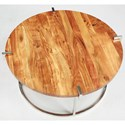 Riverside Furniture Forrester Round Cocktail Table in Glossy Acacia Finish