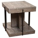 Riverside Furniture Gavin Rectangle End Table with Metal Legs