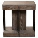 Riverside Furniture Gavin Chairside Table with Metal Legs