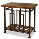 Riverside Furniture Granville Rectangular Chairside Table w/ Metal Base - 78912