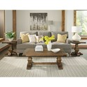 Riverside Furniture Hawthorne Coffee Table with Traditionally Turned Trestle Base
