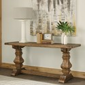 Riverside Furniture Hawthorne Console Table with Traditionally Turned Trestle Base