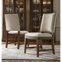 Riverside Furniture Hawthorne Upholstered Side Chair with Nailhead Trim