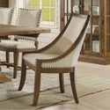 Riverside Furniture Hawthorne Upholstered Hostess Chair with Nailhead Trim
