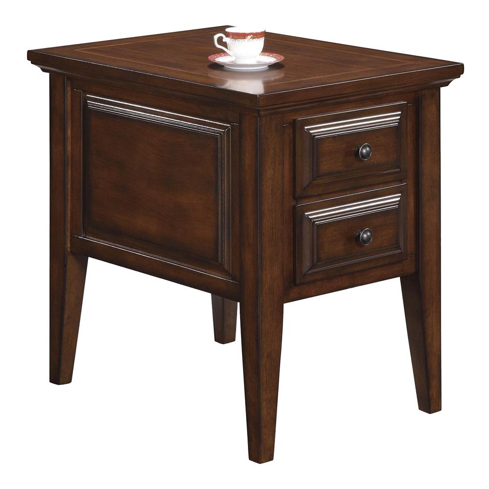 Riverside Furniture Hilborne 2 Drawer Side Table - Item Number: 92009