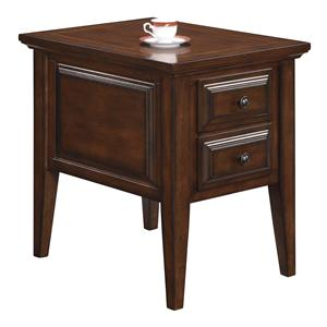 Riverside Furniture Hilborne 2 Drawer Side Table
