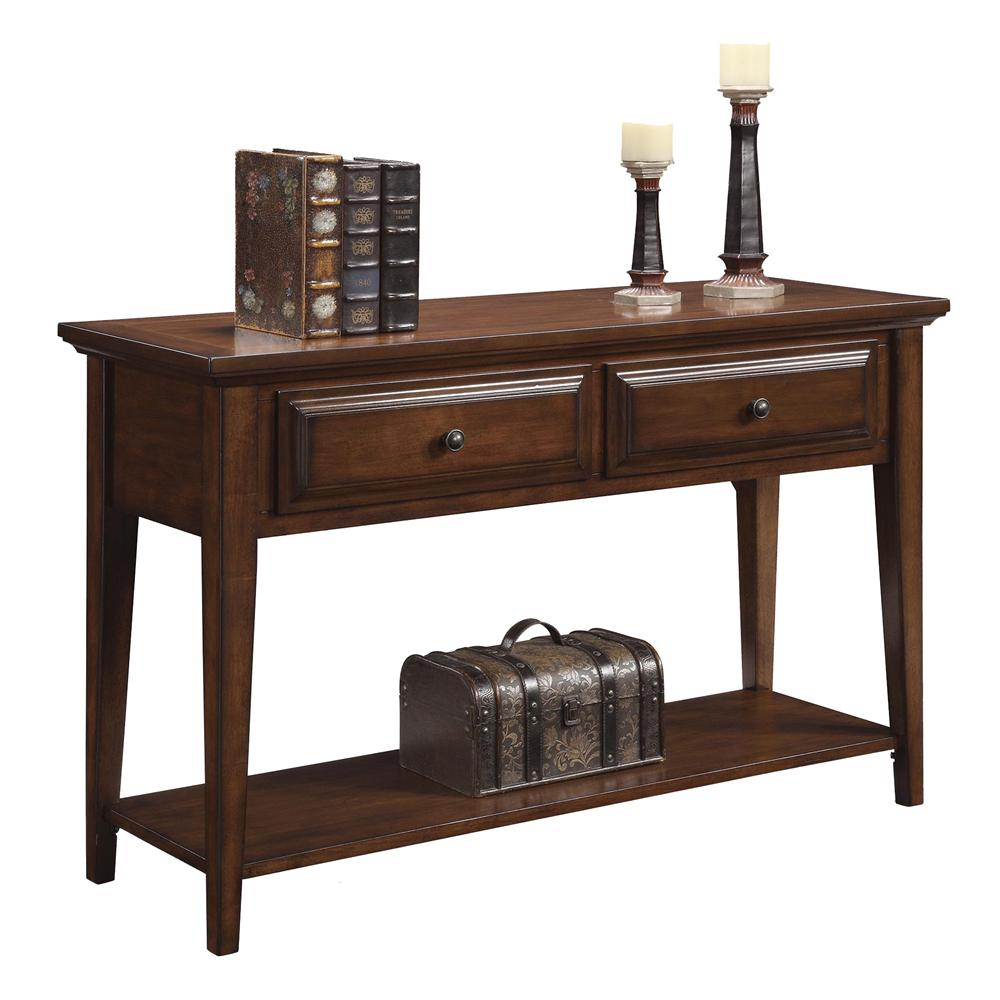 Riverside Furniture Hilborne Casual 2 Drawer Sofa Table Furniture Superstore Rochester Mn