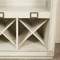 Riverside Furniture Huntleigh Bar Console with Wine and Bottle Storage