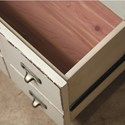 Riverside Furniture Huntleigh 2-Drawer Nightstand with Electric/USB Outlet Bar