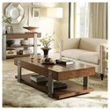 Riverside Furniture Ingram Cocktail Table with Removable Casters