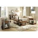 Riverside Furniture Ingram Urban Rustic 1 Drawer Chairside Table