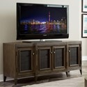 Riverside Furniture Joelle Entertainment Console with Woven Cane Doors