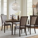 Riverside Furniture Joelle 5 Piece Table and Chair Set - Item Number: 63050+4x7