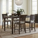 Riverside Furniture Joelle 5 Piece Gathering Table and Chair Set - Item Number: 63052+4x4