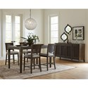 Riverside Furniture Joelle Gathering Height Dining Table with Metal Capped Feet