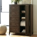 Riverside Furniture Joelle 5 Drawer Gentlemen's Chest with Adjustable Shelving