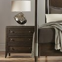 Riverside Furniture Joelle 3-Drawer Nightstand with Dual USB Charging Port