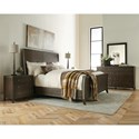 Riverside Furniture Joelle King Sleigh Bed in Carbon Gray Finish