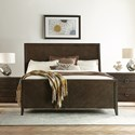 Riverside Furniture Joelle Queen Sleigh Bed in Carbon Gray Finish