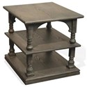 Riverside Furniture Juniper Rectangle End Table in Charcoal Finish