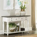 Riverside Furniture Juniper 3 Drawer Rectangle Console Table in Two-Tone Finish