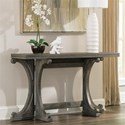 Riverside Furniture Juniper Gateleg Sofa Table in Charcoal Finish