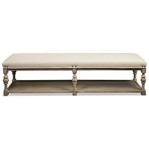 Riverside Furniture Juniper 72-In Upholstered Dining Bench