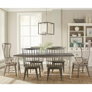 Riverside Furniture Juniper 7 Piece Table and Chair Set