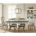 Riverside Furniture Juniper 7 Piece Table and Chair Set - Item Number: 44450+2x3+4x2