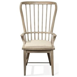 Riverside Furniture Juniper Windsor Upholstered Host Chair