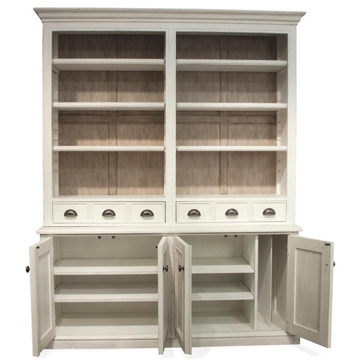 Riverside Furniture Juniper China Cabinet in Chalk Finish ...