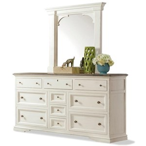 Riverside Furniture Juniper Dresser and Mirror Combo