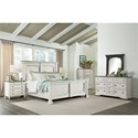 Riverside Furniture Juniper 10 Drawer Dresser and Bracket Mirror in Charcoal Finish Combo