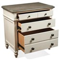Riverside Furniture Juniper 3-Drawer Nightstand with Electric/USB Outlet Bar
