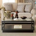 Riverside Furniture Kali Castered Cocktail Table with Glass Top