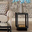 Riverside Furniture Kali Chairside Table with Glass Top