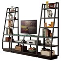 Riverside Furniture Kali 5 Shelf Open Bookcase Pier