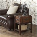 Riverside Furniture Latitudes 1 Drawer Chairside Table with 1 Shelf - 38712 - Shown in Room Setting