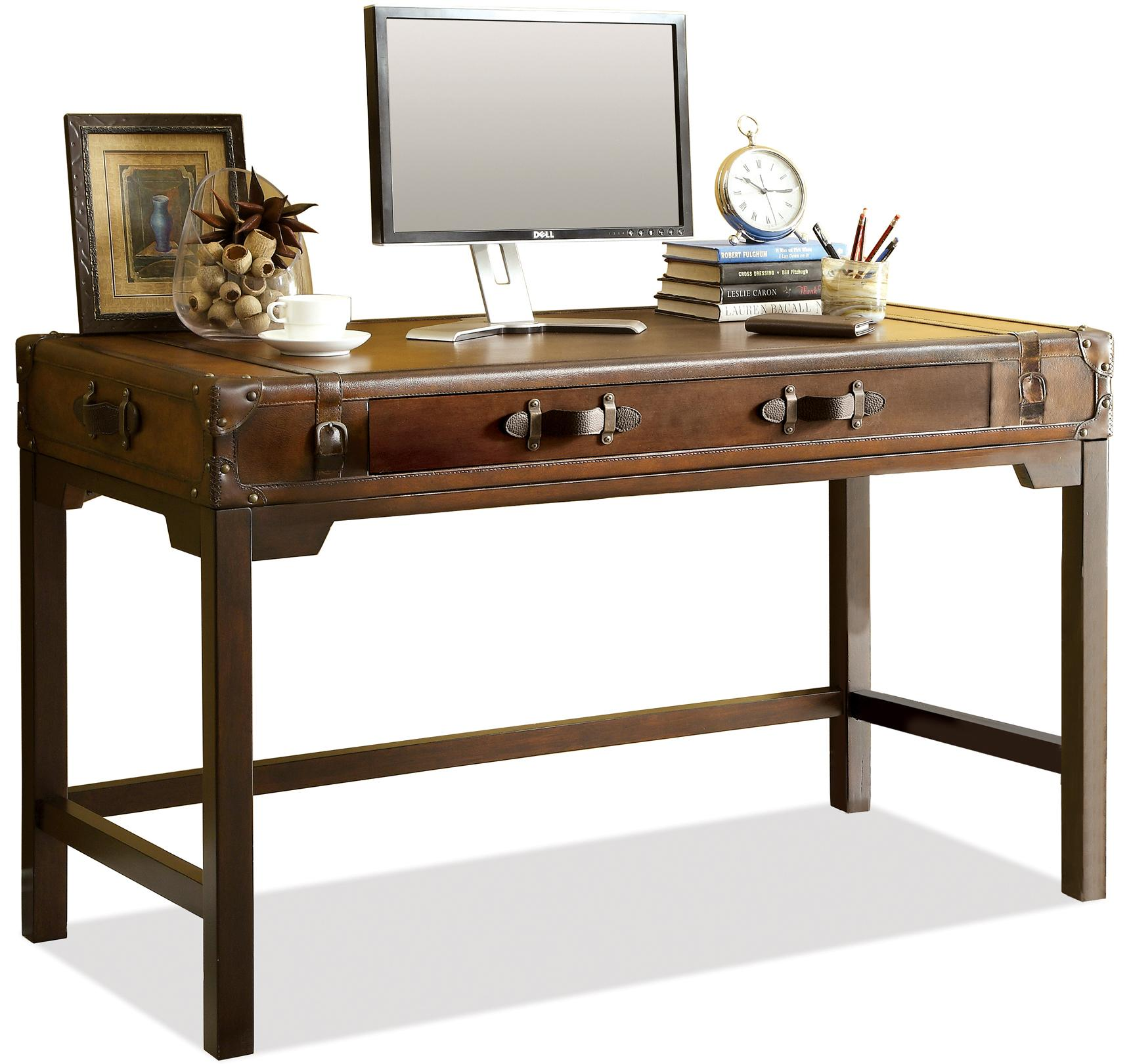 Riverside Furniture Latitudes Suitcase Writing Desk With Drop With Drop  Front Door   AHFA   Table Desk Dealer Locator