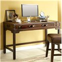 Riverside Furniture Latitudes Suitcase Writing Desk with Drop with Drop Front Door - Shown in Room Setting