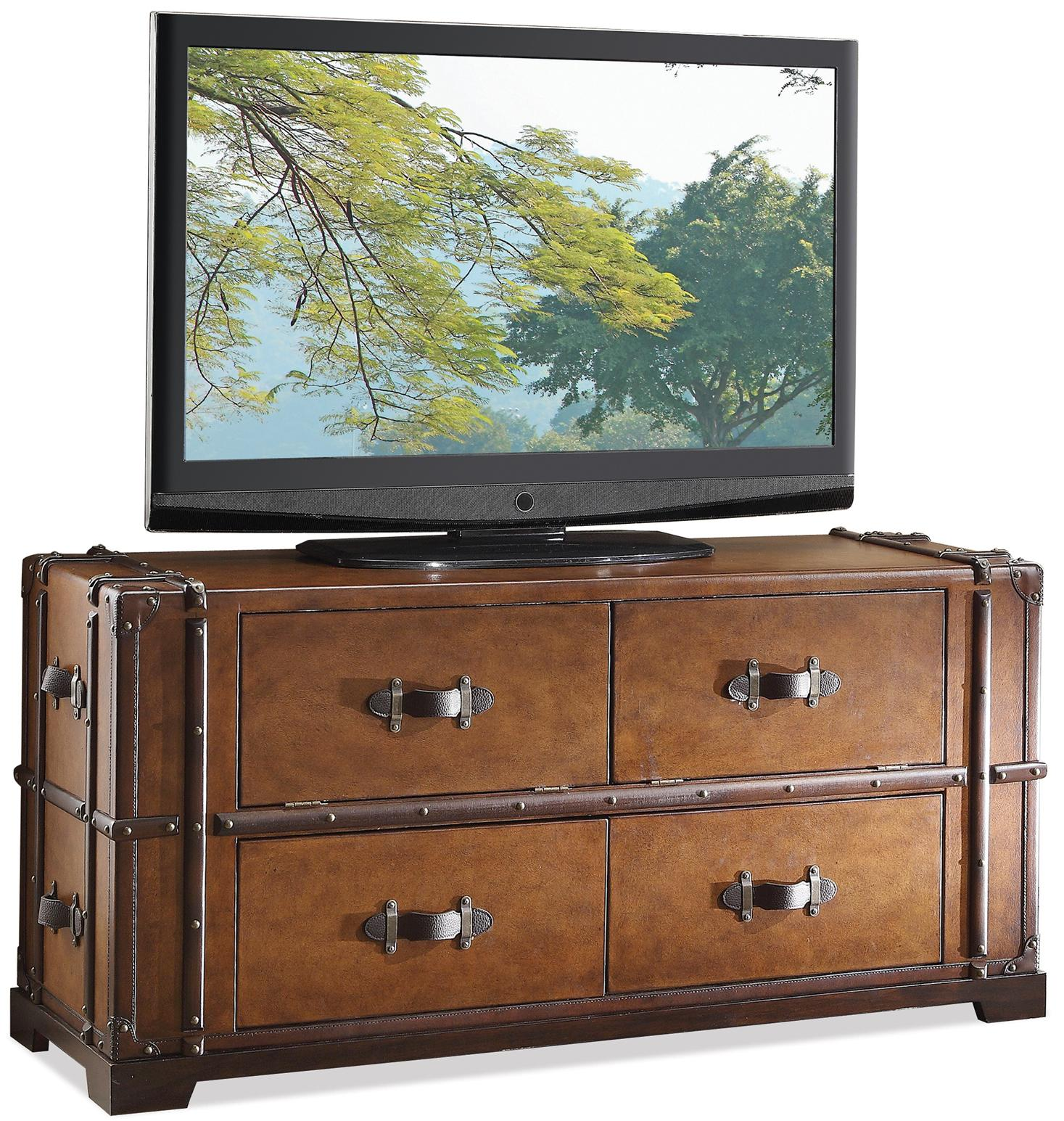 Riverside Furniture Latitudes Steamer Trunk TV Console - Item Number: 38741