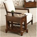 Riverside Furniture Lawrenceville Drawer Chairside Table with Fixed Shelf - 61212 - Shown in Room Setting