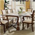 Riverside Furniture Lawrenceville Rectangular Dining Table with Turned Legs and Leaf Insert - 61250