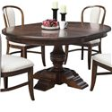 Riverside Furniture Lawrenceville Round Dining Table with Pedestal Base - 61251+52