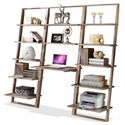 Riverside Furniture Lean Living Leaning Bookcase with 5 Shelves - Shown as Office Wall Unit
