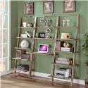 Riverside Furniture Lean Living Leaning Bookcase with 5 Shelves - Shown as Office Wall Unit in Room Setting
