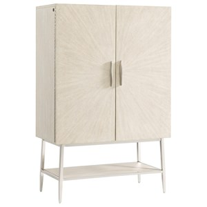 Contemporary 2-Door Bar Cabinet