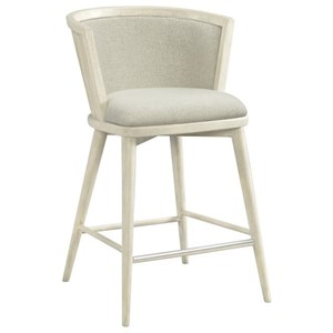 Upholstered Windsor Counter Stool