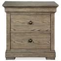 Riverside Furniture Louis Farmhouse Nightstand  - Item Number: 58769