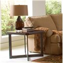 Riverside Furniture Madeira End Table with Authentic Copper Insert Top - 66809 - Shown in Room Setting